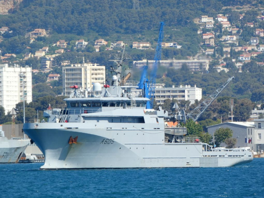 Garonne , A605 , appareillant de Toulon pour rallier son port base à Brest le 11 juillet 2021