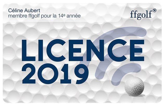 Licence ffgolf 2019