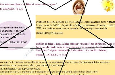 Message de Noël des membres de l'ACO d'Ile de France