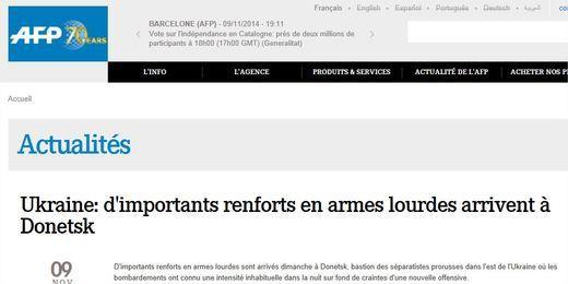Quand l'AFP confond 40 camions-citernes avec des chars russes