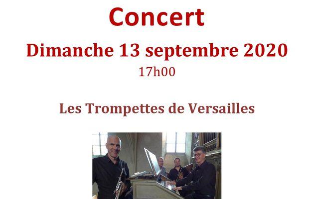 Concert ce dimanche 13 septembre à 17h00 avec les Trompettes de Versailles