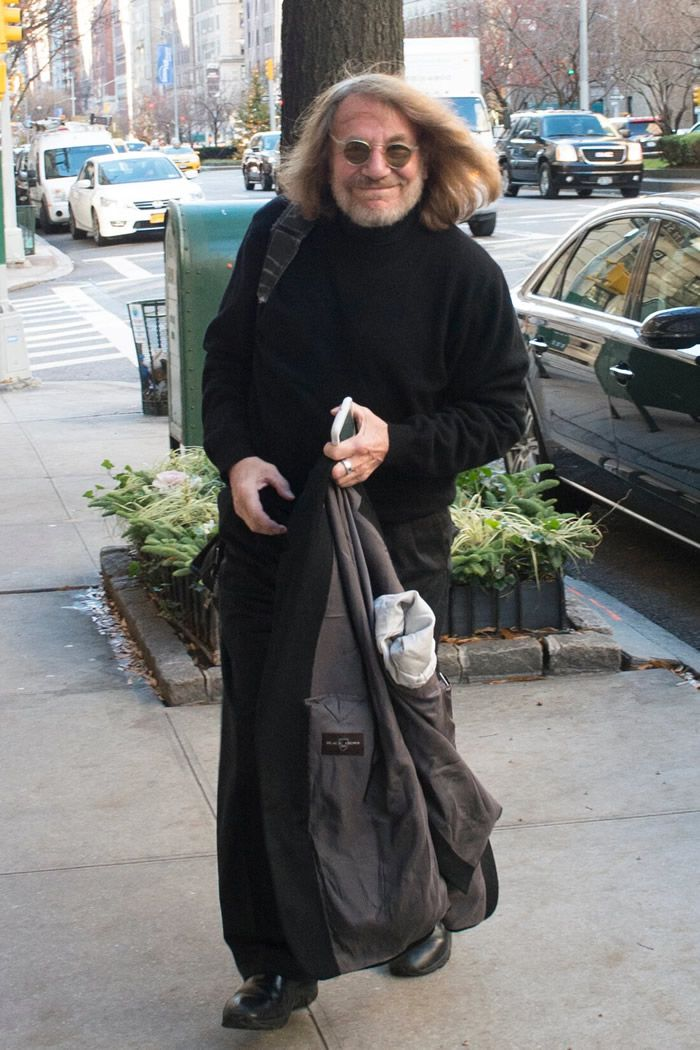 Dr. Bornstein on Park Avenue, outside his office, in 2015. He claimed that representatives of President Trump had raided his office looking for Mr. Trump's medical records.Credit...Joe Marino/NY Daily News, via Getty Images