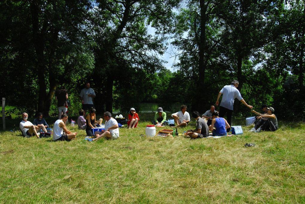 randonnée sur le loir, les 20 et 21 juin 2009, de La Flèche à Durtal et du Lude à La Flèche en juin 2012