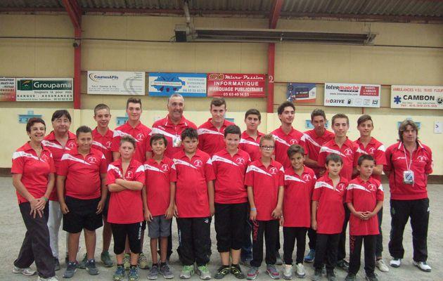 L'Ecole de Pétanque de MILLAU, Double Championne de l'Aveyron en CDC Jeunes