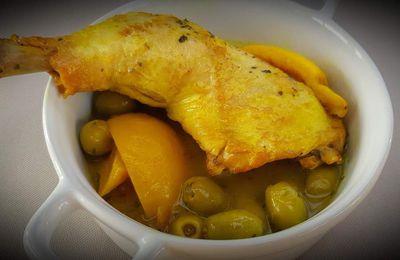 Poulet aux olives et au citron confit