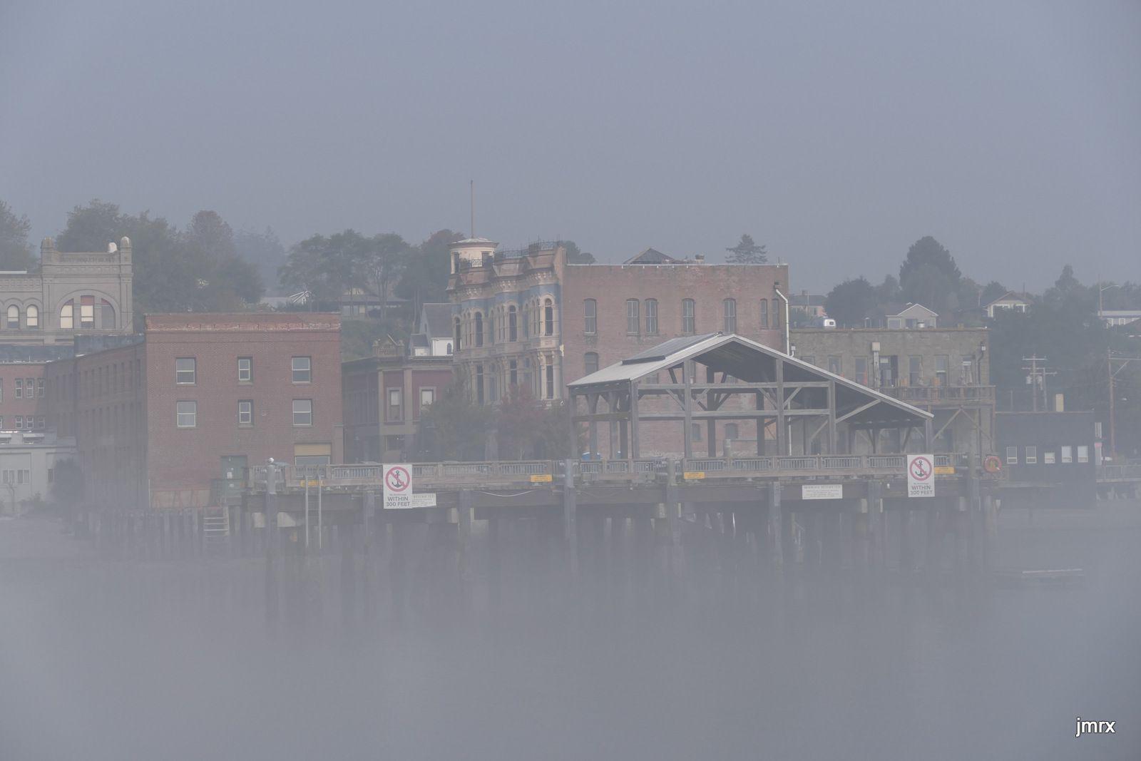 Brouillard sur Port Townsend.