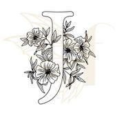 fdstnm160-tampon-non-monte-lettre-florale-J Fée du scrap