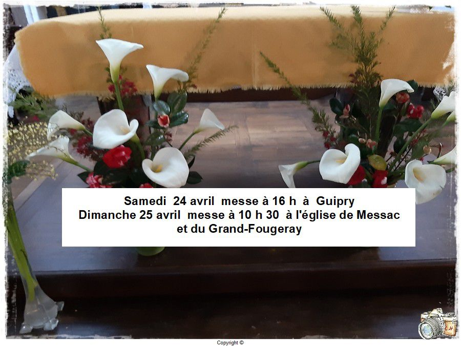 Messes ce week-end