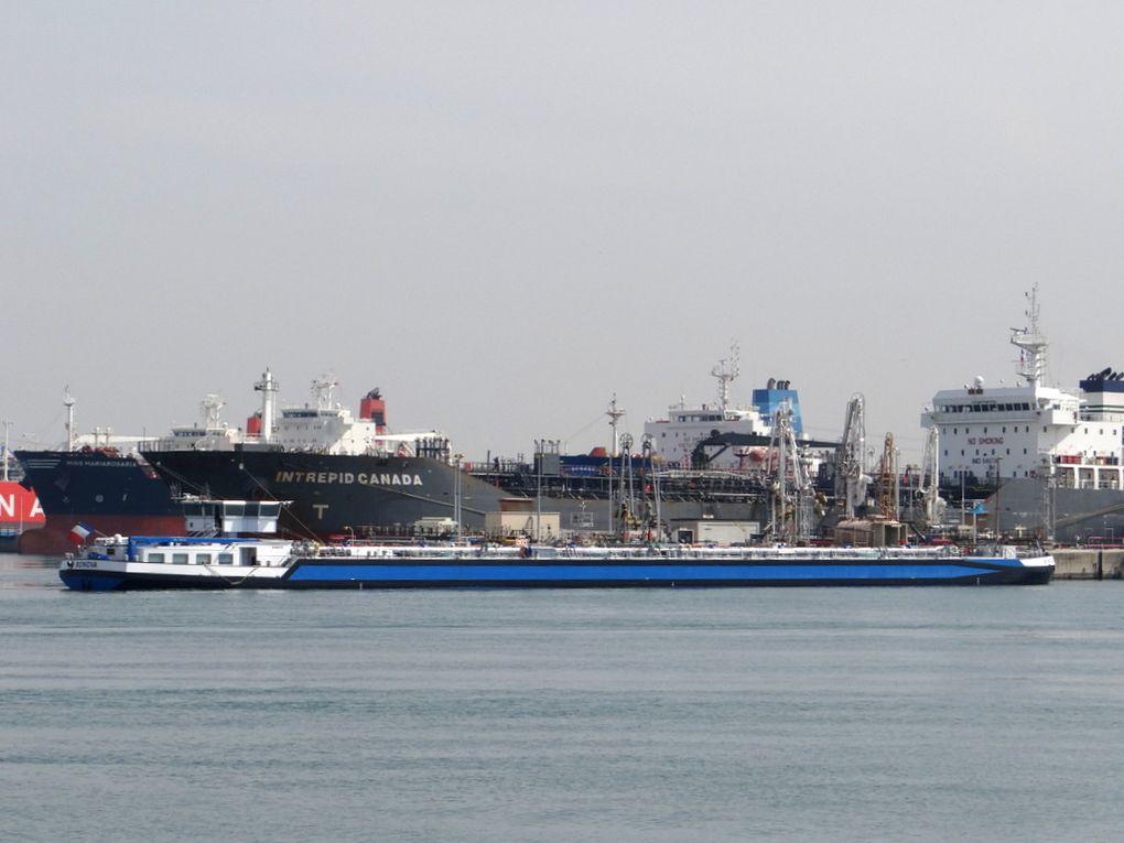 BONAVA , en rade de Port de Bouc pour prendre poste à Lavera le 19 mars 2015