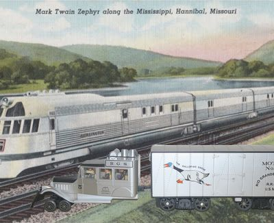Le Mark Twain Zephyr et Galloping Goose
