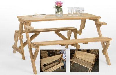 Magic Bench Table : le banc qui se transforme en table