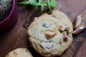 Cookies au chocolat et noix du Brésil
