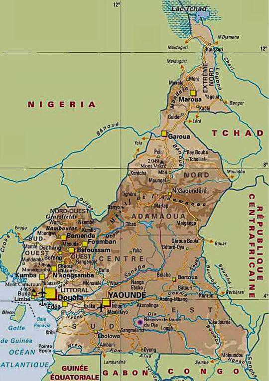 Imágenes de la Región Sur-Oeste de Cameroun.- El Muni.