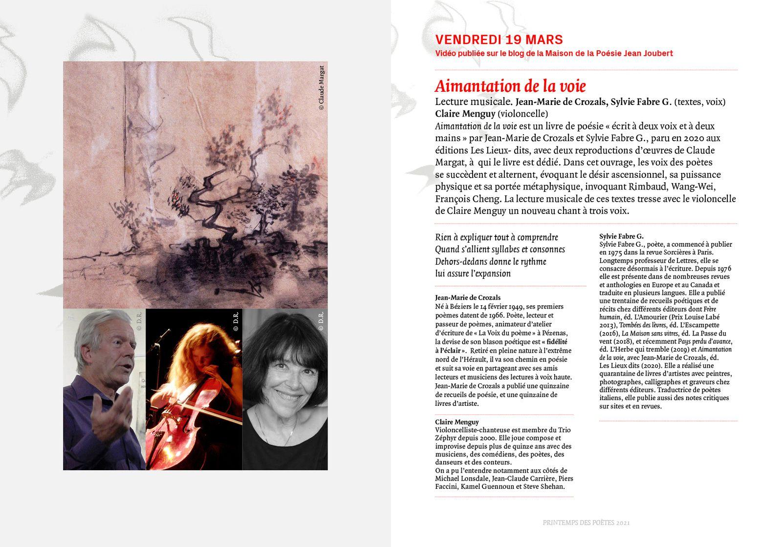 Le Programme du Printemps des Poètes à Montpellier