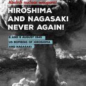 Déclaration du Conseil Mondial de la Paix : Se souvenant des victimes des bombardements d'Hiroshima et de Nagasaki, nous appelons à l'abolition des arsenaux nucléaires - Solidarité Internationale PCF