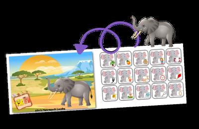 Phonologie : J'entends le son [EN] comme dans ELEPHANT