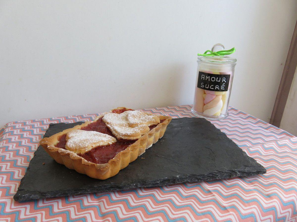 Mes tartelettes pommes fraises rhubarbe