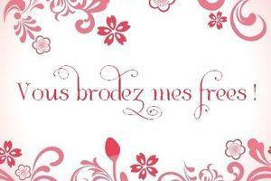 Vous brodez mes frees : février...liens frees.
