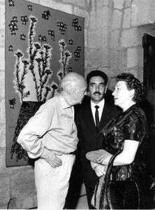 Avec Simone et Jean Lurçat, le 1er août 1963 à Aigues-Mortes.