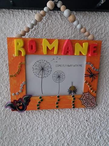 Notre cadre décoration Halloween - Activité manuelle enfant
