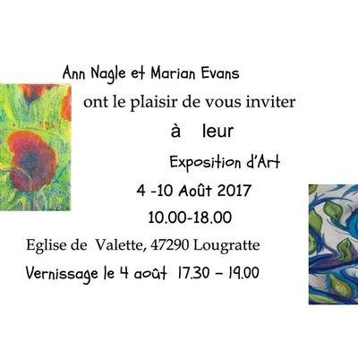 Expo du du 4 au 10 Août = Ann NAGLE et Marian EVANS, Peintures