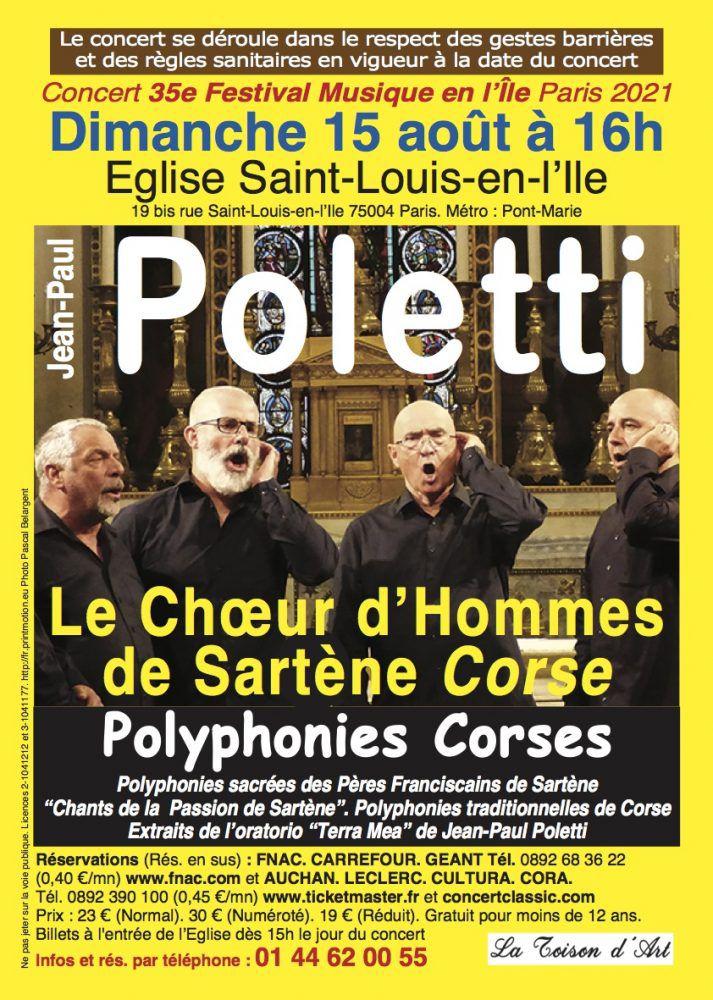 Concert à St-Louis en l'Île