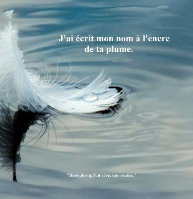 """""""J'ai écrit mon nom à l'encre de ta plume"""" est enfin en vente partout en format broché!!!"""