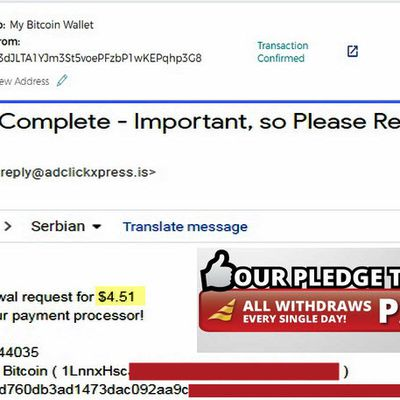 My No61 Withdrawal proof from AdClickXpressCrypto
