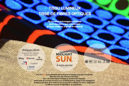 MIDLIGHTSUN-Tissus lumineux-éclairage innovant