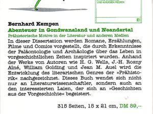 Prehistoric News n°13 (Bernhard Kempen - 1997)