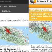 Plus de 150 tremblements ont frappé l'île de Vancouver au cours des dernières 24 heures