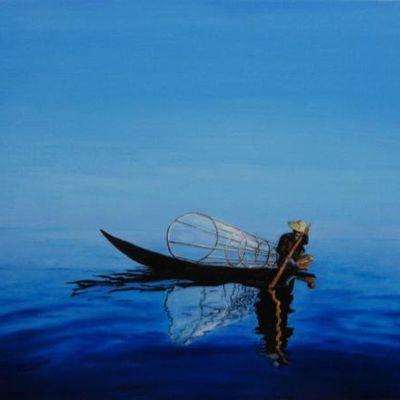 Solitude paisible dans l'infiniment bleu