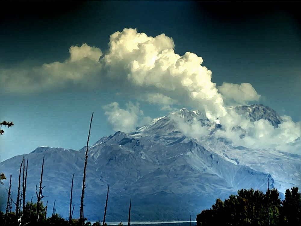 Sheveluch - The Growing Dome, strog fumaroles activity - photo Andrew Matseevsky 09.15.2021