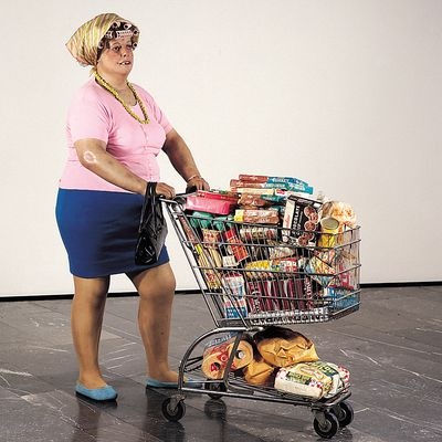 SUPERMARKET LADY by Duane HANSON (10 A class)