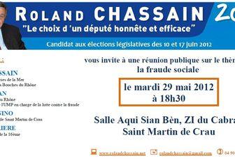 Mardi 29 mai: Réunion publique à Saint Martin de Crau