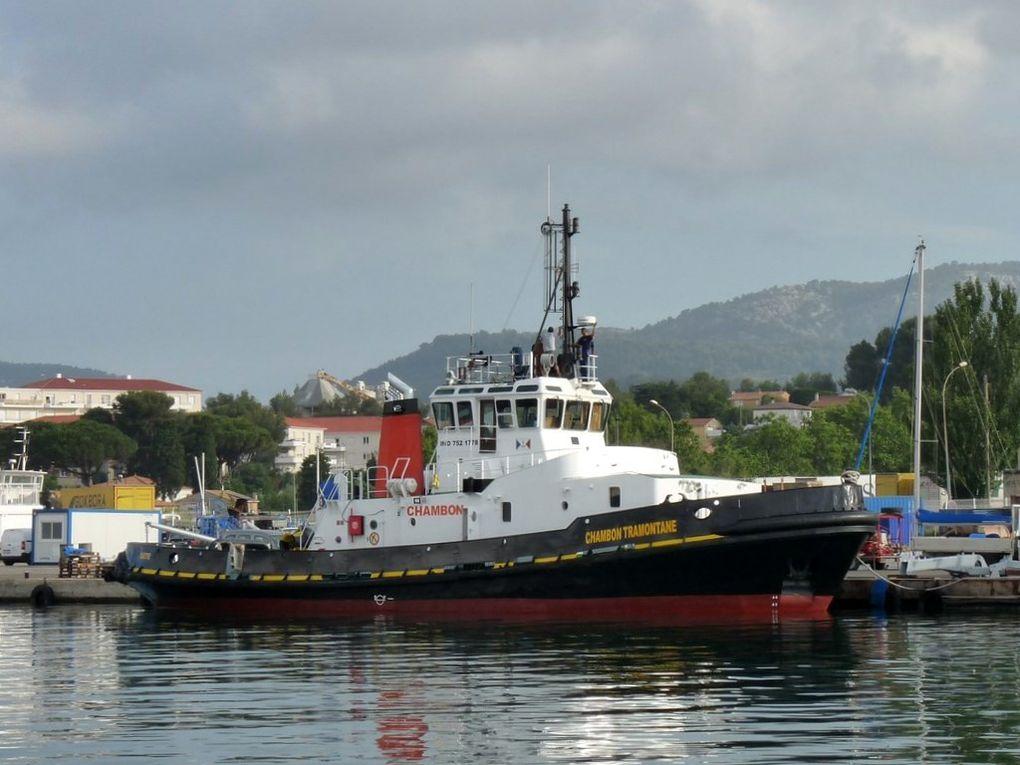 CHAMBON TRAMONTANE , Remorqueur du port de Sète  en entretien à la Seyne sur mer