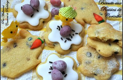 Easter currant cookies