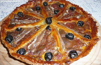 tarte à la riste d'aubergines et aux anchois de Collioure