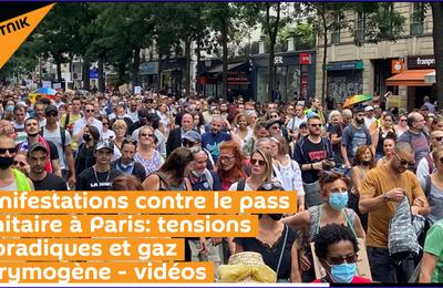 Manifestations contre le pass sanitaire à Paris: tensions sporadiques et gaz lacrymogène - vidéos