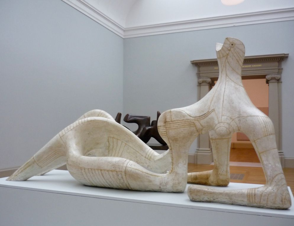 Reclining Figure, 1951, Plaster and String