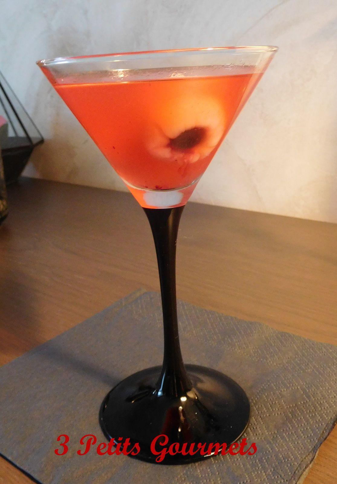 Des yeux dans un bain de sang ? Des litchis dans un martini-framboise ?
