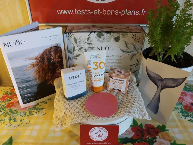 unboxing de la box de produits de beauté naturels NUOO @ Tests et Bons Plans