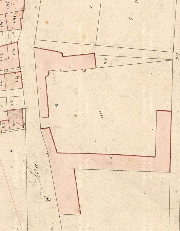 Bois Salut en 1808 et 1844 (extraits cadastre aux archives départementales)