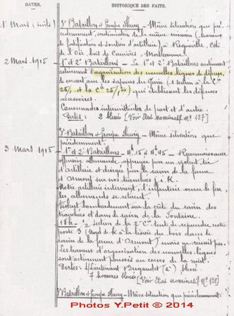 Devoir de Mémoire: Ernest PETIT ancien du 9ème RG