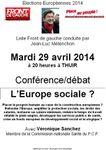 Front de Gauche: l'Europe sociale en débat