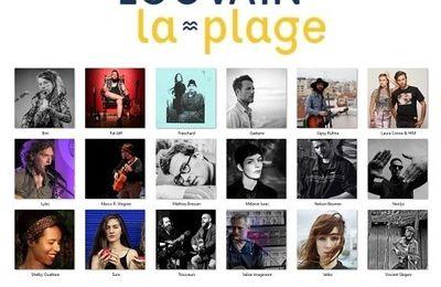 🎵 La programmation musicale de Louvain-la-plage 2021 - du 1er juillet au 1er août