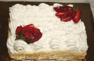 Recette fraisier pour anniversaire