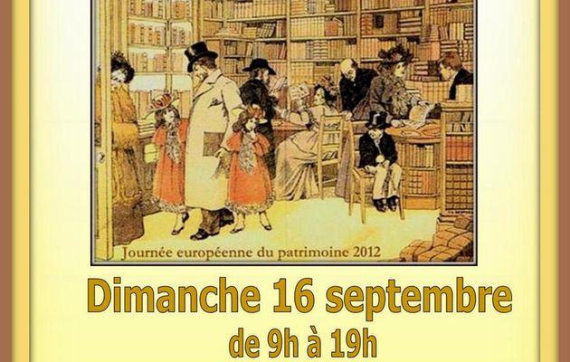 4ème SALON DU LIVRE ANCIEN dimanche 16 septembre de 9h à 18h Tarascon - Office du Tourisme - Salle Panoramique