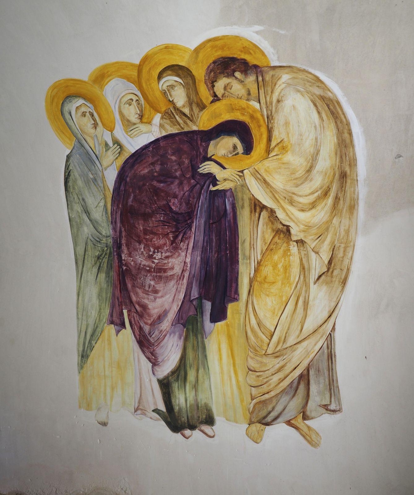 L'intérieur de la chapelle a été restaurée, et notamment cette fresque.