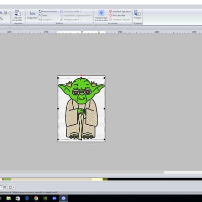 numérisation de Yoda et Baby Yoda